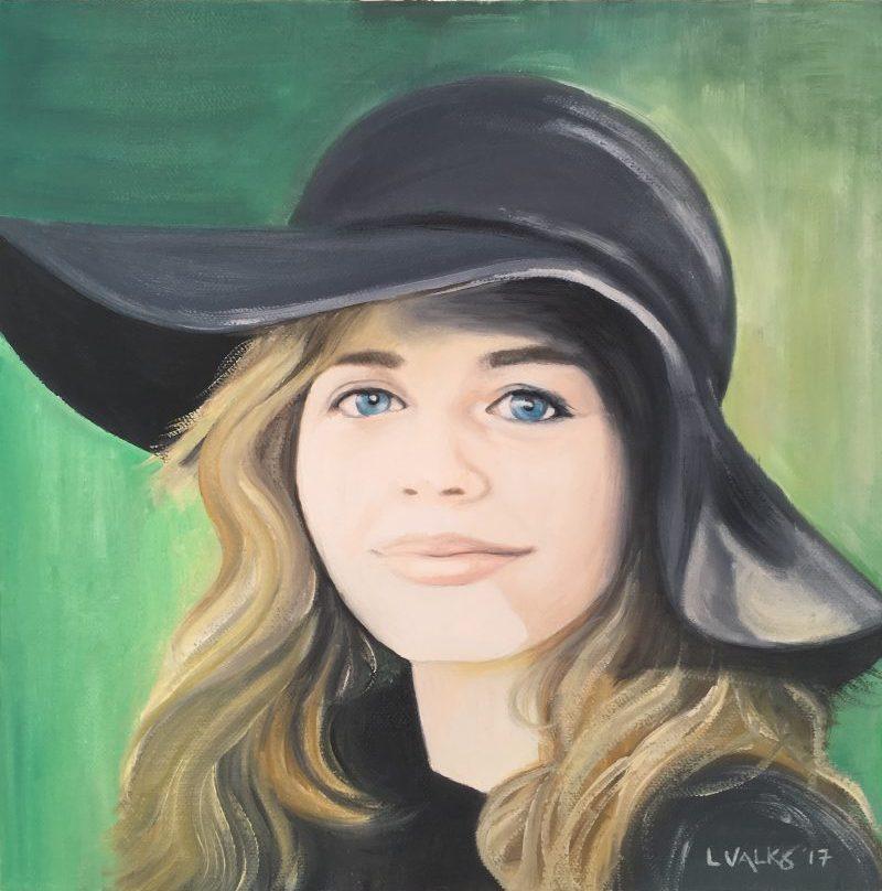 Oil portrait of Naya